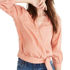 Madewell Apricot Star Wrap Top